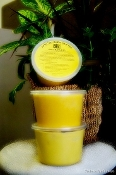 16 oz pure shea butter in clear containers. Choose yellow or white for the same great benefits.