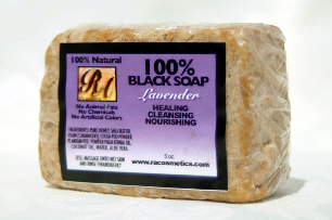 Black Soap (100%) w/ Lavender